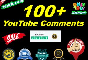 I Will Give You 100+ NoDrop YouTube Comments Lifetime Guaranteed