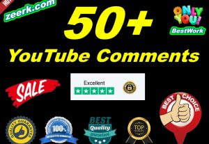 I will add 50+ NonDrop YouTube Comments Lifetime Guaranteed