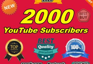 I will add manually 2000 YouTube Subscribers Non-Drop And Instant Start Within 24-48 Hours