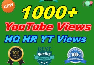 Add 1000+ Organic High-Quality HR YouTube Views Instant Start Delivery Within 48-72 Hours
