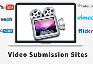 I will manually video submission on top 10 video sharing sites list