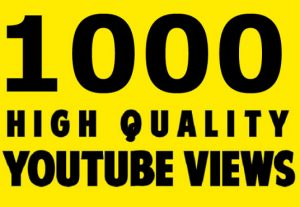 1000+ HIGH QUALITY YOU TUBE VIEWS,NON DROP,REAL AND ORGANIC