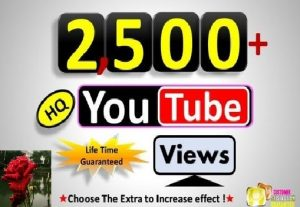 Get Instant 2500 to 3000 YouTube Video Views to REAL Viewers, Good Retention