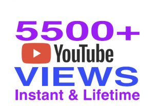 I will provide 5500+ youtube views instantly & lifetime guaranteed !!!