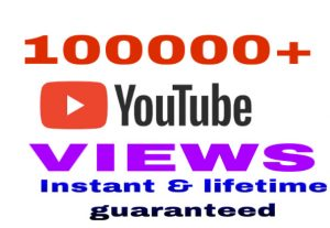 I will provide 100k youtube video views instantly & lifetime guaranteed !!!