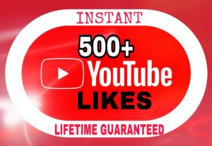 500+ Likes added in your YouTube video instantly