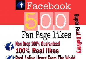 I will Promote 500+ Facebook Fan Page Likes or page like or photo like