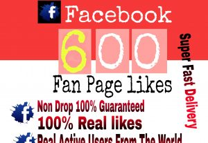 I will Promote 600+ Facebook Fan Page Likes