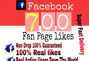 I will Promote 700+ Facebook Fan Page Likes