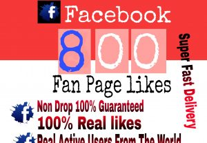 I will Promote 800+ Facebook Fan Page Likes