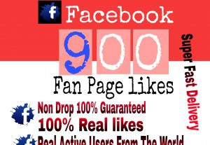 I will Promote 900+ Facebook Fan Page Likes