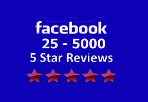 Add 50 Facebook five star rating and review on your business  page