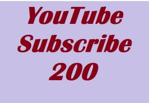 200 Real Subscribers for your Channel