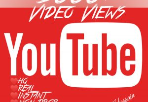 Add 5000+ YouTube Views with lifetime guarantee!!
