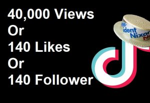 TikTok Promotion 40,000 Views Or 140 Likes Or 140 Followers