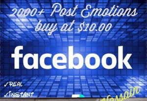 Promote your Facebook Post with 2000+ Emotions (Love,Haha,Wow,Sad, Angry) at Instant with High quality Promotions,Real and 100% Organic.