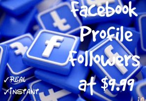 Promote your Facebook Profile with 500+ Followers at Instant with High quality Promotions,Real and 100% Organic.