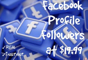 Promote your Facebook Profile with 1000+ Followers at Instant with High quality Promotions,Real and 100% Organic.
