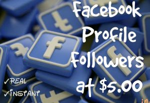 Promote your Facebook Profile with 250+ Followers at Instant with High quality Promotions,Real and 100% Organic.