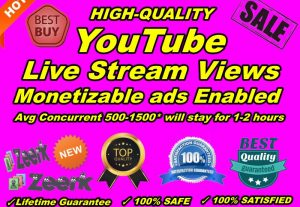 YouTube Live Stream Views Monetizable are often used with ads Enabled