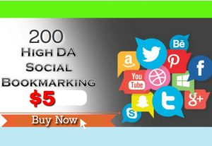 I will do  200 Social Bookmarking from high PR SEO social sites for $5