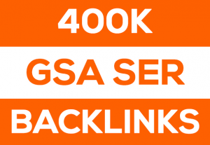 I will create GSA ser 400000 SEO backlinks for website ranking on Google pages for $7
