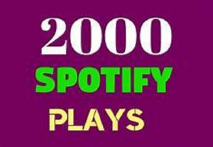 2000+ SPOTIFY PLAYS HIGH QUALITY PROMOTION,NON DROP