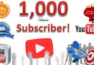 Buy 1000 YouTube Subscribers – High Quality, Reliable, Fast