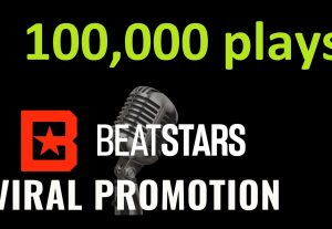 Get ORGANIC 100,000 BEATSTARS Plays From USA ,Real And Active Users