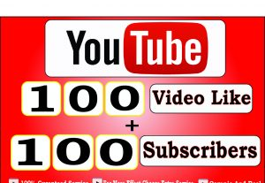 Get 100+ Youtube Video Like And 100+ Youtube Subscribers,LifeTime Guranteed Service For $5