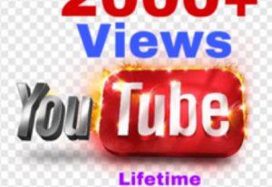 I will add 2000+ Youtube  Views . Genuine & Lifetime Guaranteed !!!