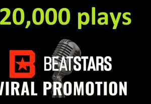 Get ORGANIC 20,000 BEATSTARS Plays From USA ,Real And Active Users