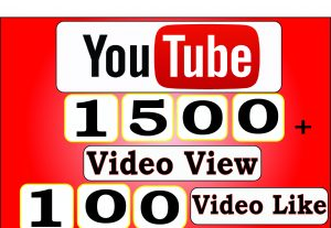 Get 1500+ Youtube Video View And 100+ Youtube Video Like,LifeTime Guranteed Service For $5