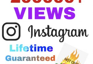 I will add 200000+ Instagram Views !! Its a Lifetime Guaranteed !!
