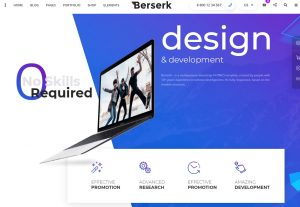 Berserk – Business Portfolio Blog Corporate eCommerce App with Page Builder