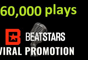 Get ORGANIC 60,000 BEATSTARS Plays From USA ,Real And Active Users