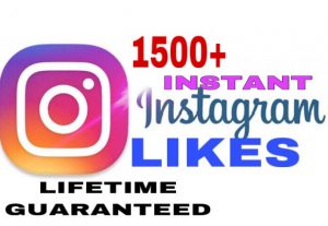 I will provide 1500+ Instagram likes instant & lifetime guaranteed