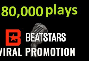 Get ORGANIC 80,000 BEATSTARS Plays From USA ,Real And Active Users