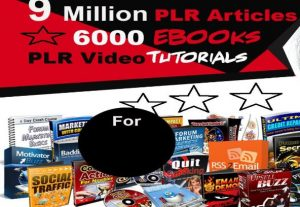Over 9 Million PLR Articles, eBooks, Book Covers, Video Training, Bonuses and Giveaways