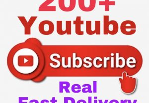 I will provide 200+ Youtube Subscribers !! Real & Fast Delivery !!