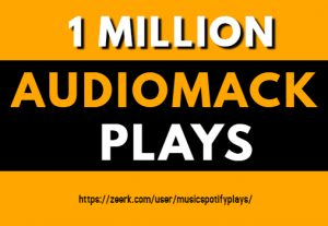 1 Million Real HQ Audiomack Plays Streams
