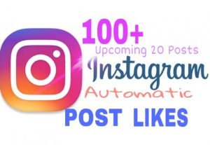 Provide 100+ Instagram Automatic Post Likes