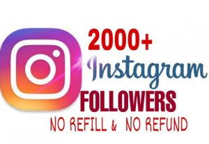2000+ Followers added in your Instagram  Instantly