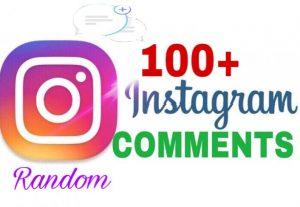 I will Provide 100+ Instagram Random Comments Instantly