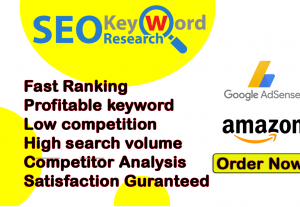 I will do profitable SEO keyword research and competitor analysis by semrush and ahref