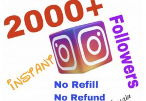 I will provide 2000+ Instagram Followers !!!