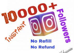 I will provide 10000+ Instagram Followers !!!
