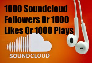 Permanent 1000 SoundCloud Followers or Likes or 100k Plays