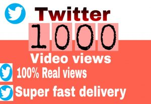 I will get you 1,000+ Twitter video views high quality and fast delivery