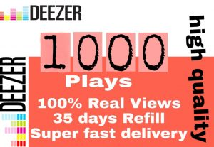 I will get you 1,000+ deeze views high quality and fast delivery